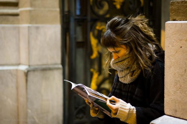 Llegint en public © Clara.Go