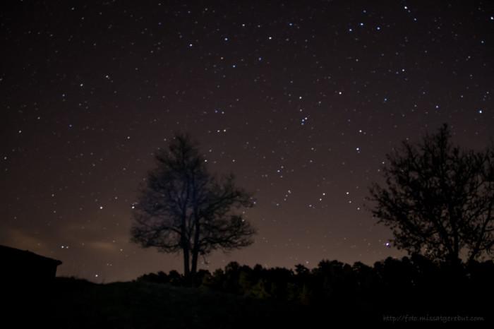 Antes de que salga la luna, te regalaré un manto de estrellas...