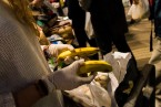 Voluntaris de canaletes - La cua de la fam - Projecte fotogràfic de Clara Garcia i Ortés